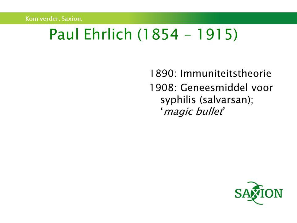 Paul Ehrlich (1854 – 1915) 1890: Immuniteitstheorie