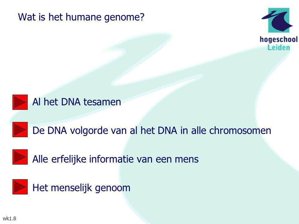 Wat is het humane genome
