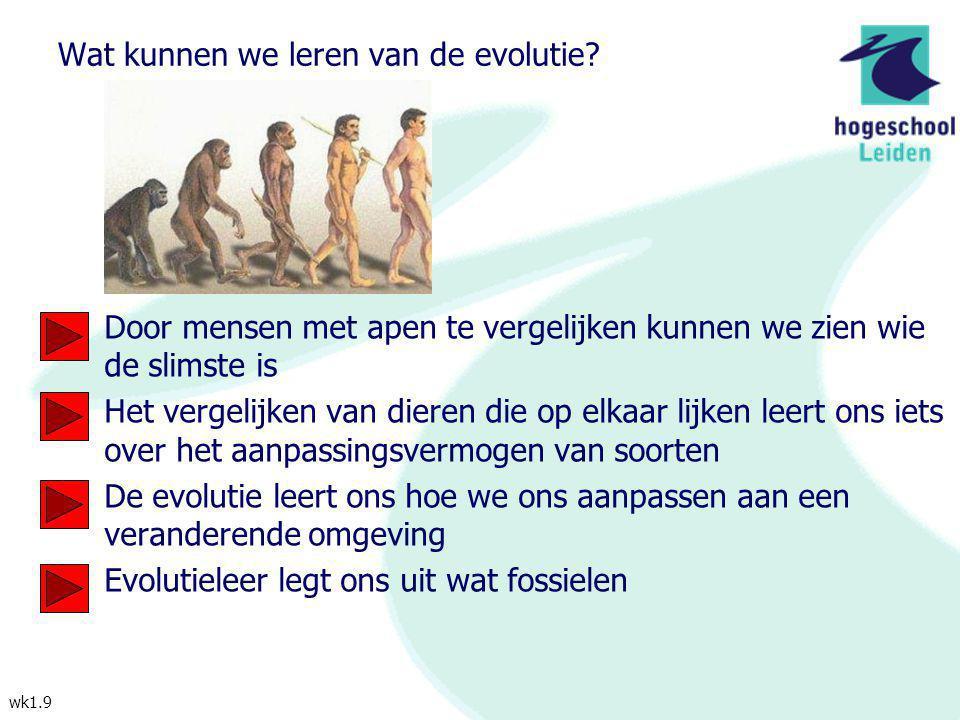 Wat kunnen we leren van de evolutie