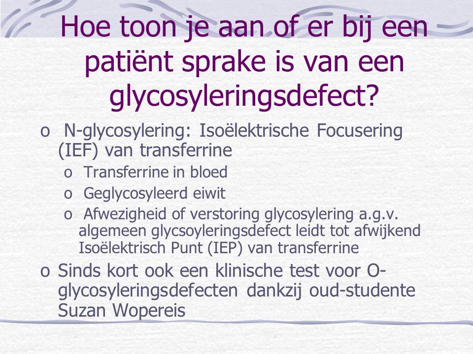 Hoe toon je aan of er bij een patiënt sprake is van een glycosyleringsdefect