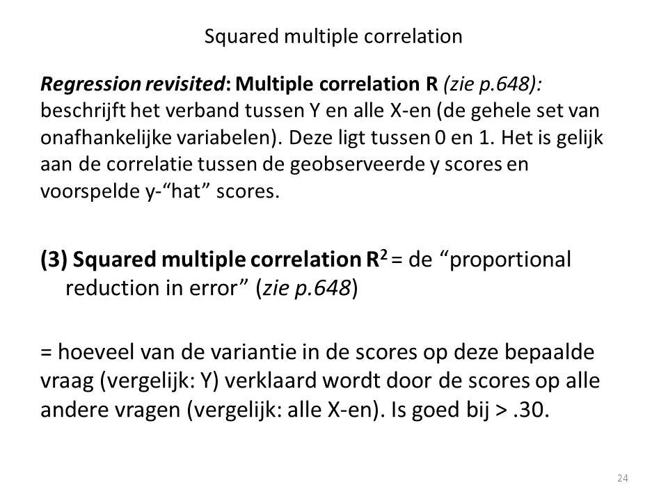 Squared multiple correlation