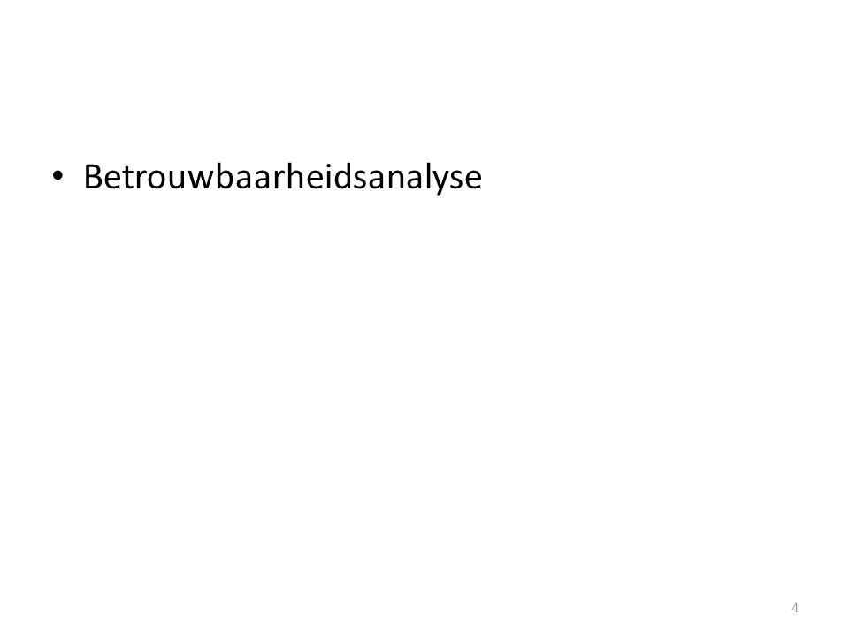Betrouwbaarheidsanalyse