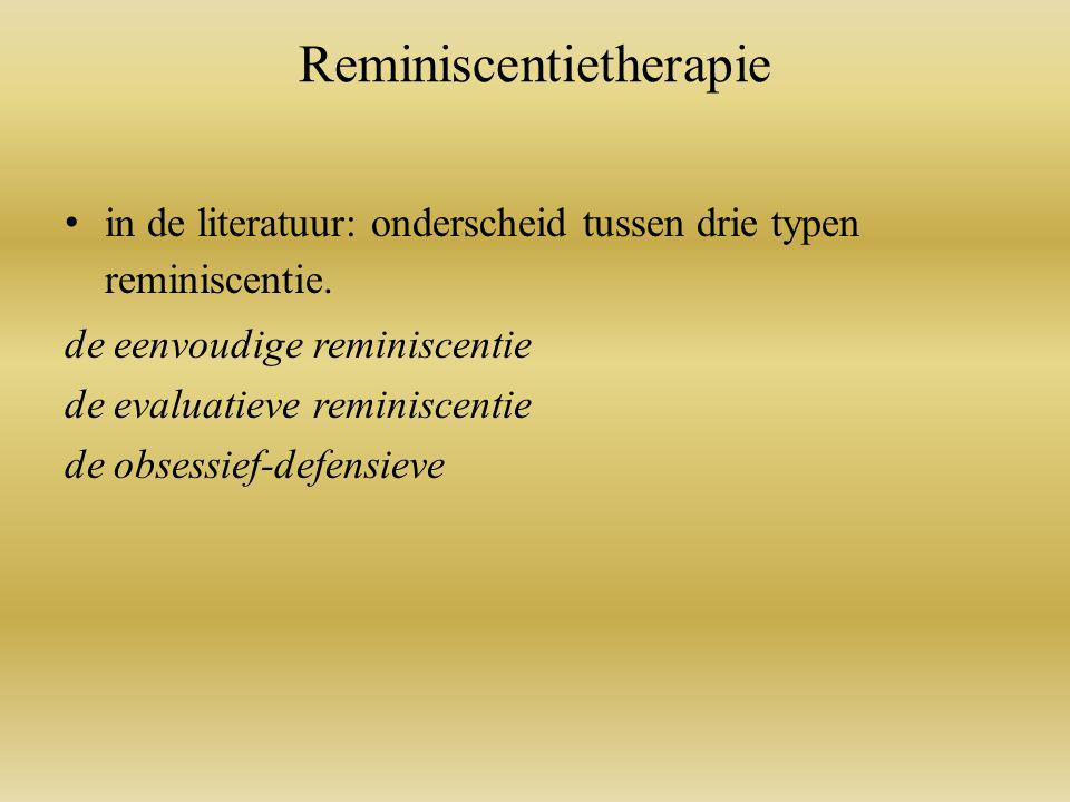 Reminiscentietherapie