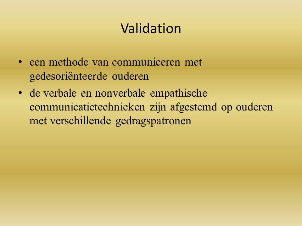 Validation een methode van communiceren met gedesoriënteerde ouderen