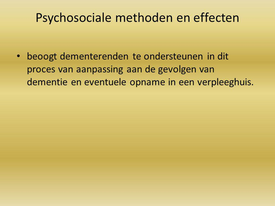 Psychosociale methoden en effecten