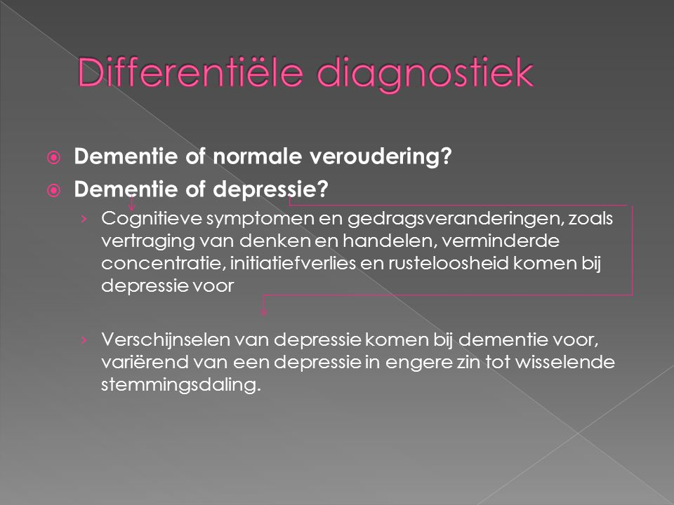 Differentiële diagnostiek