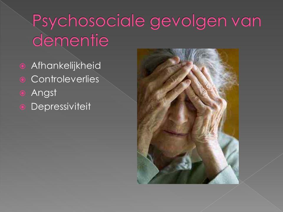 Psychosociale gevolgen van dementie