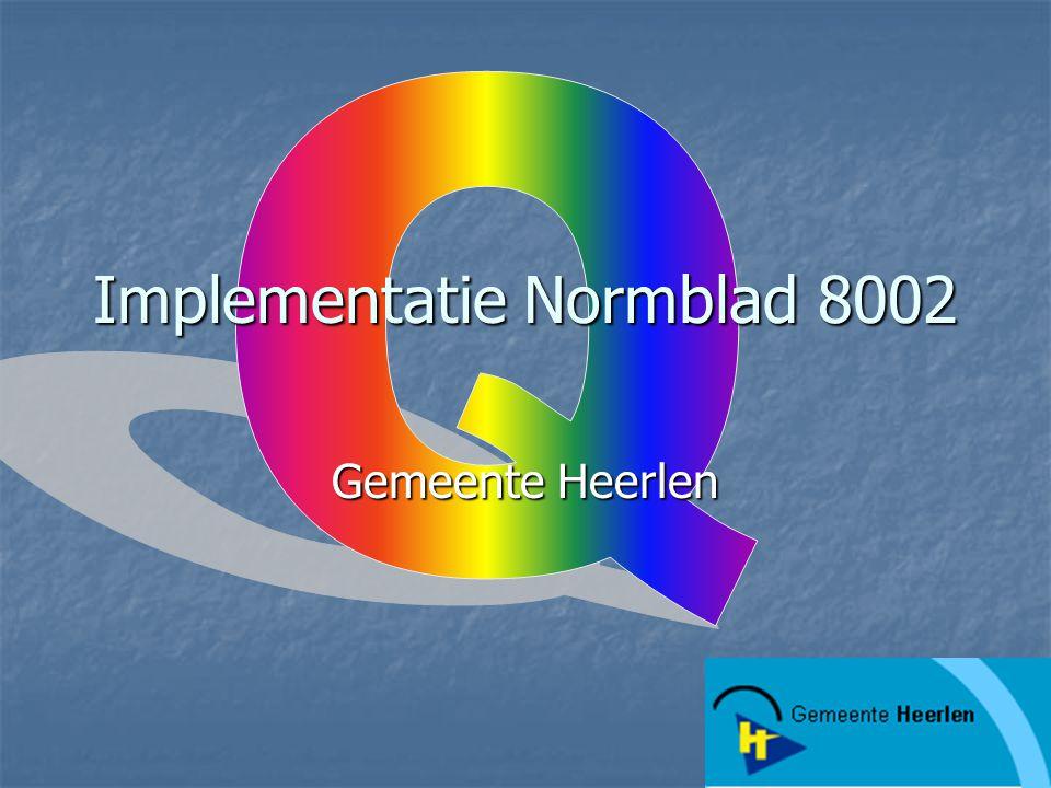 Implementatie Normblad 8002