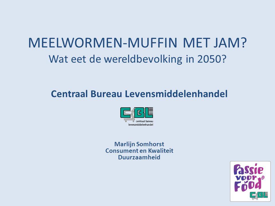 MEELWORMEN-MUFFIN MET JAM Wat eet de wereldbevolking in 2050