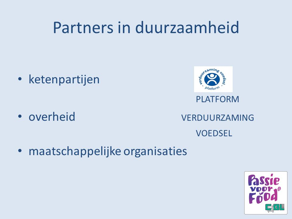 Partners in duurzaamheid