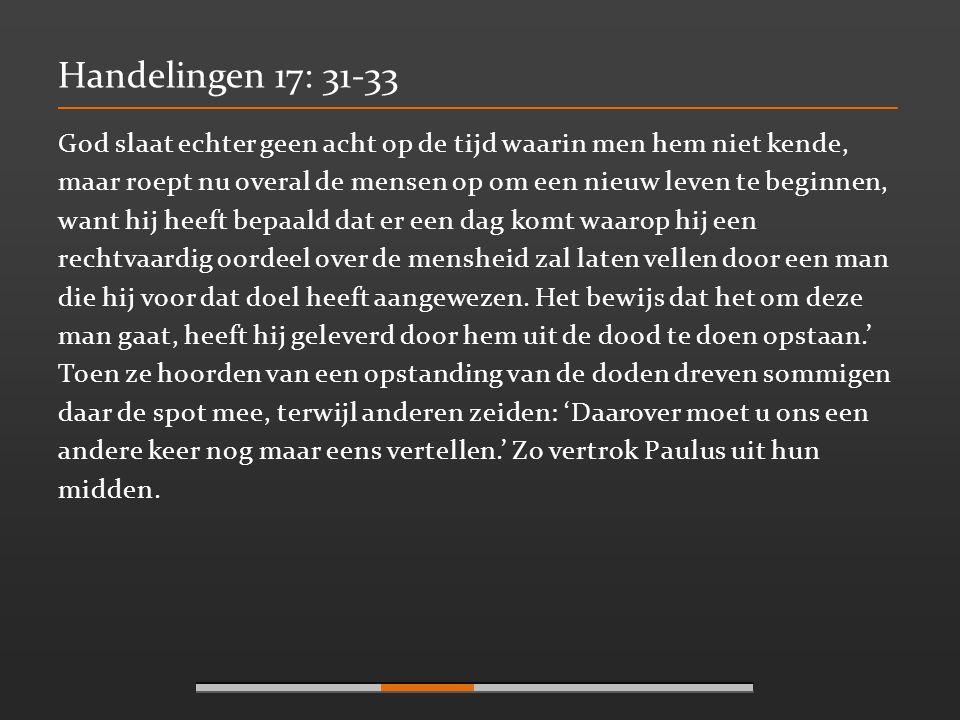 Handelingen 17: 31-33