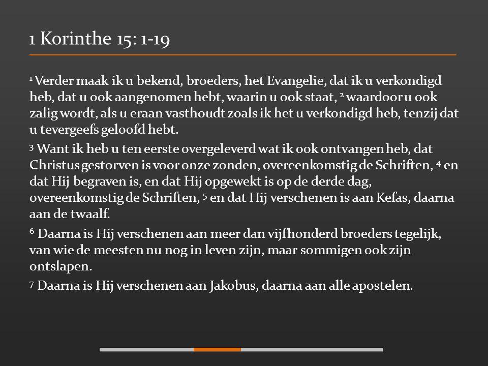 1 Korinthe 15: 1-19