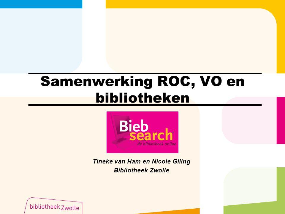Samenwerking ROC, VO en bibliotheken