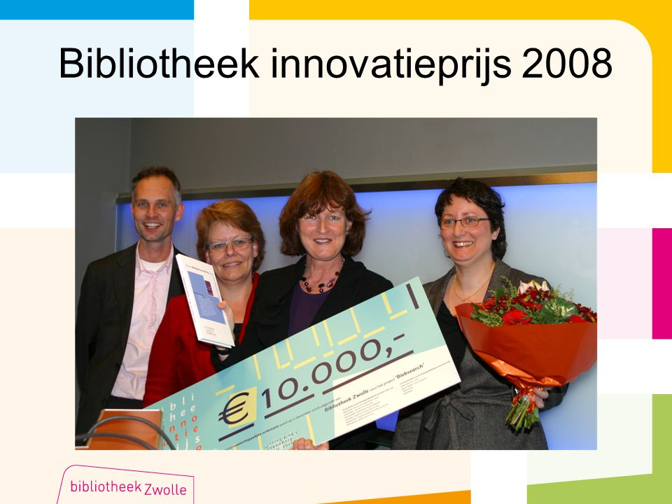 Bibliotheek innovatieprijs 2008