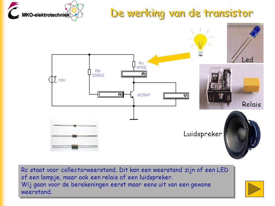 De werking van de transistor
