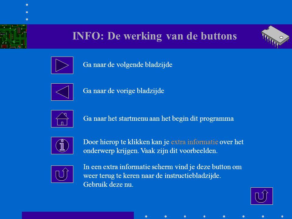 INFO: De werking van de buttons