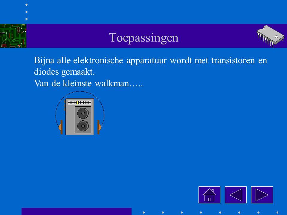 Toepassingen Bijna alle elektronische apparatuur wordt met transistoren en.