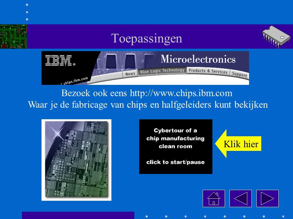Toepassingen Bezoek ook eens http://www.chips.ibm.com