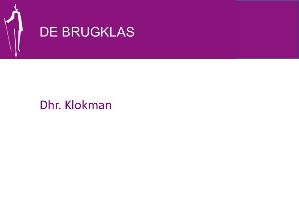 DE BRUGKLAS Dhr. Klokman
