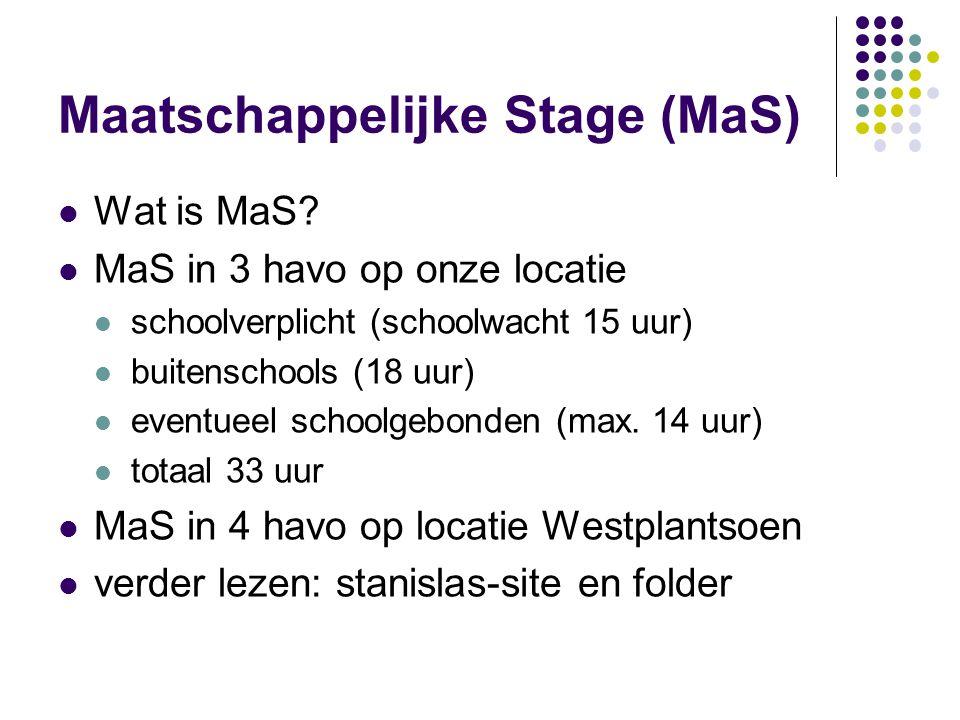Maatschappelijke Stage (MaS)