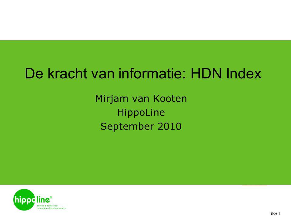 De kracht van informatie: HDN Index