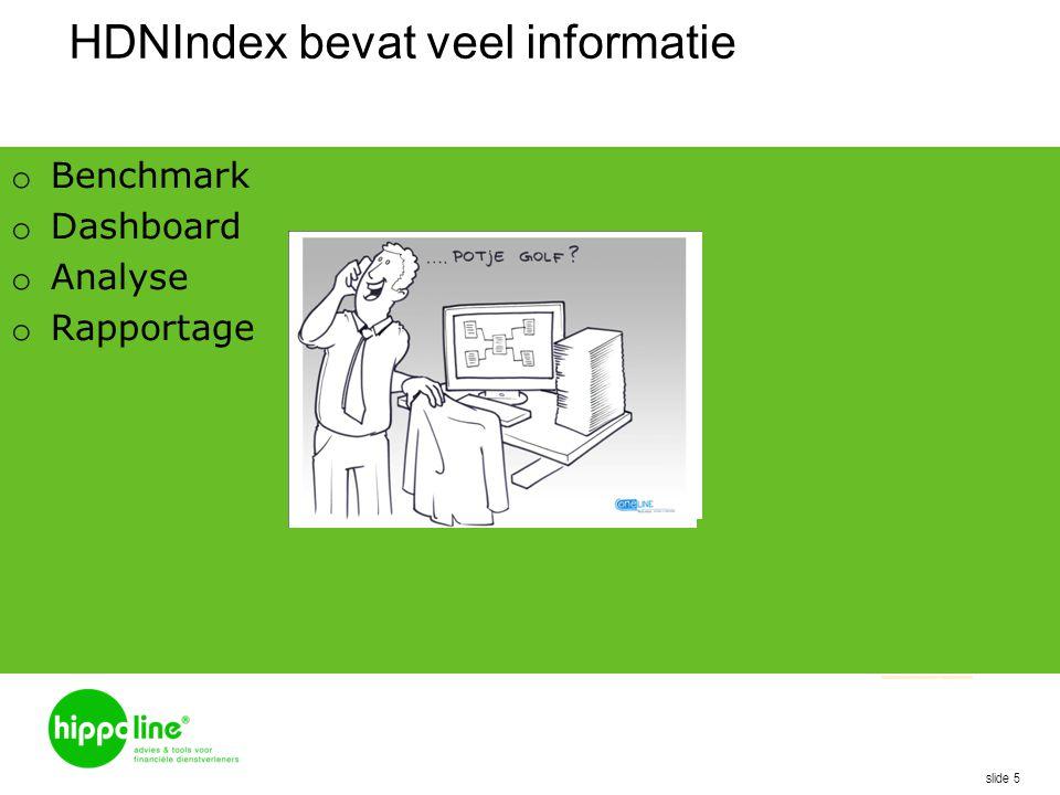 HDNIndex bevat veel informatie