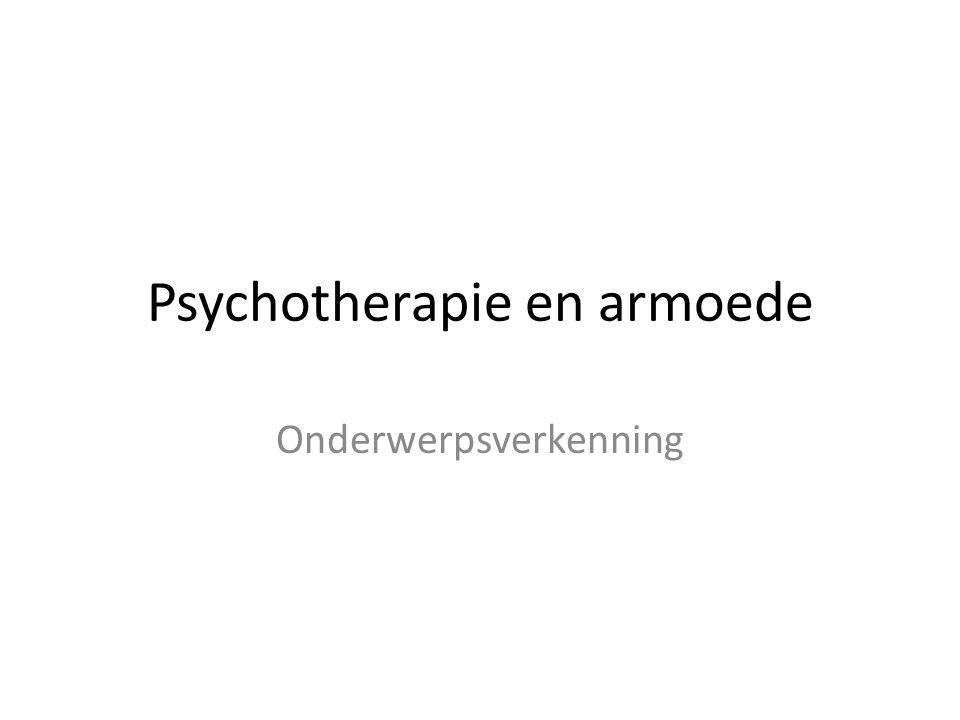 Psychotherapie en armoede