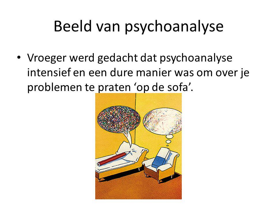 Beeld van psychoanalyse