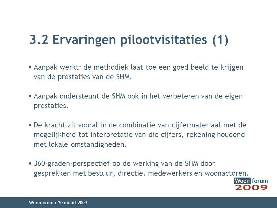 3.2 Ervaringen pilootvisitaties (1)