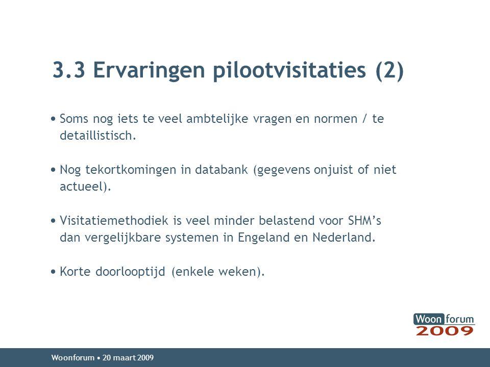 3.3 Ervaringen pilootvisitaties (2)