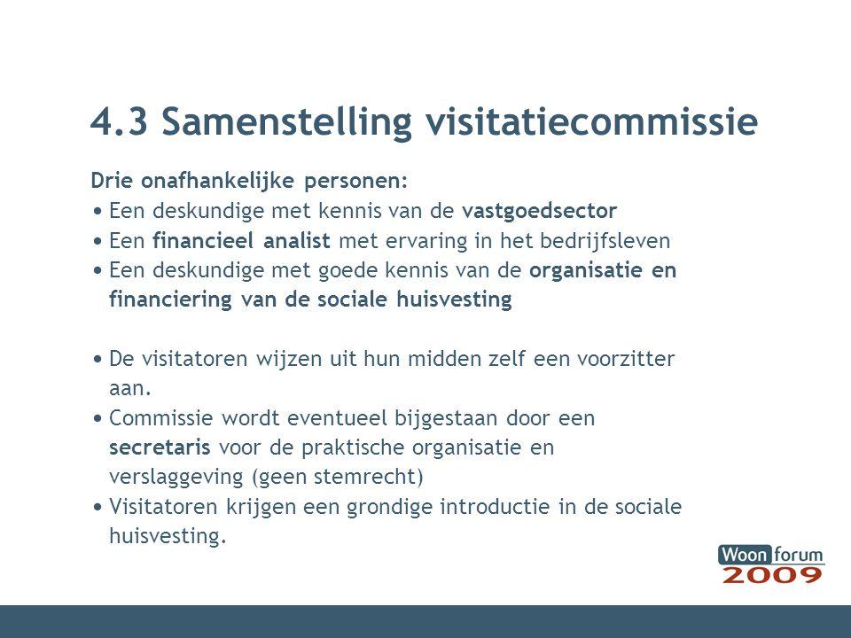 4.3 Samenstelling visitatiecommissie