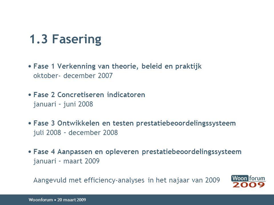1.3 Fasering Fase 1 Verkenning van theorie, beleid en praktijk
