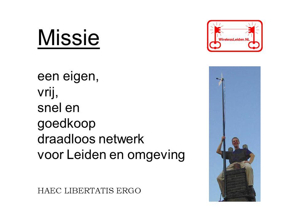 Missie een eigen, vrij, snel en goedkoop draadloos netwerk