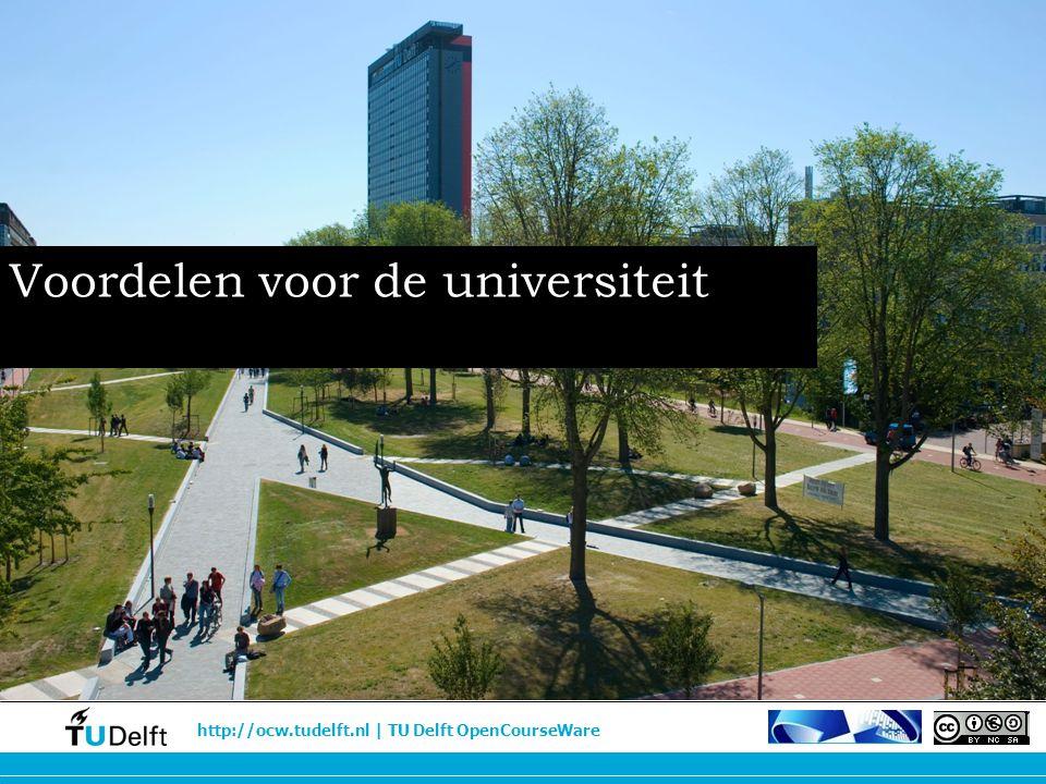 Voordelen voor de universiteit