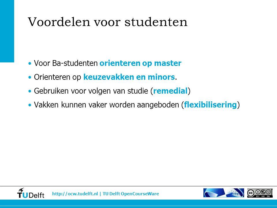 Voordelen voor studenten