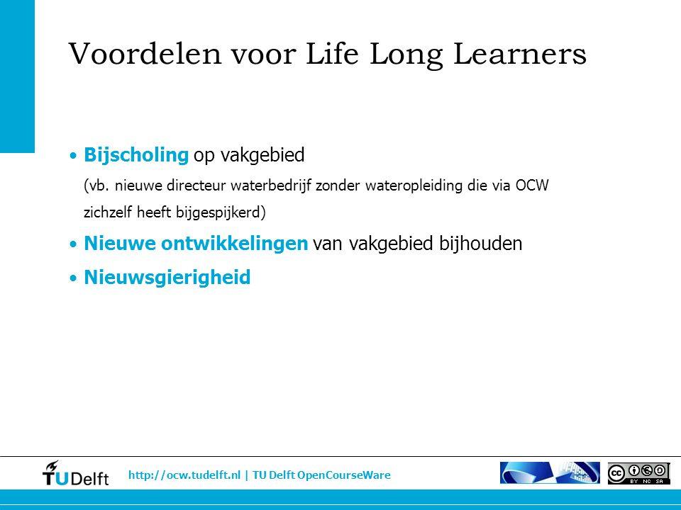 Voordelen voor Life Long Learners