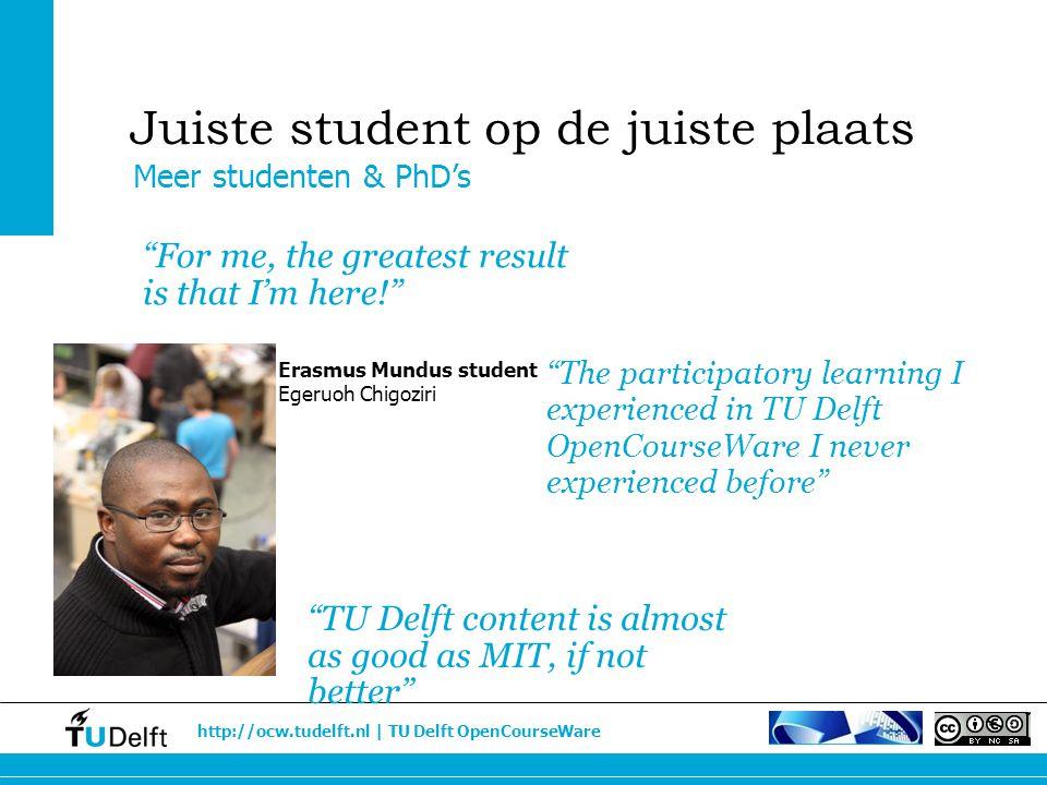 Juiste student op de juiste plaats
