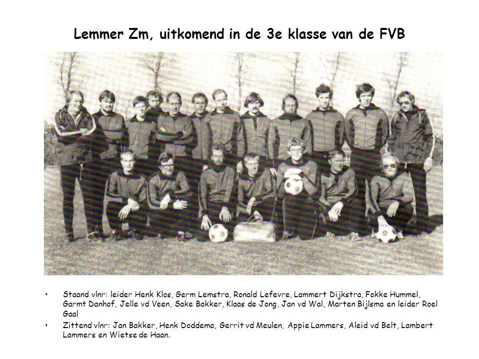 Lemmer Zm, uitkomend in de 3e klasse van de FVB