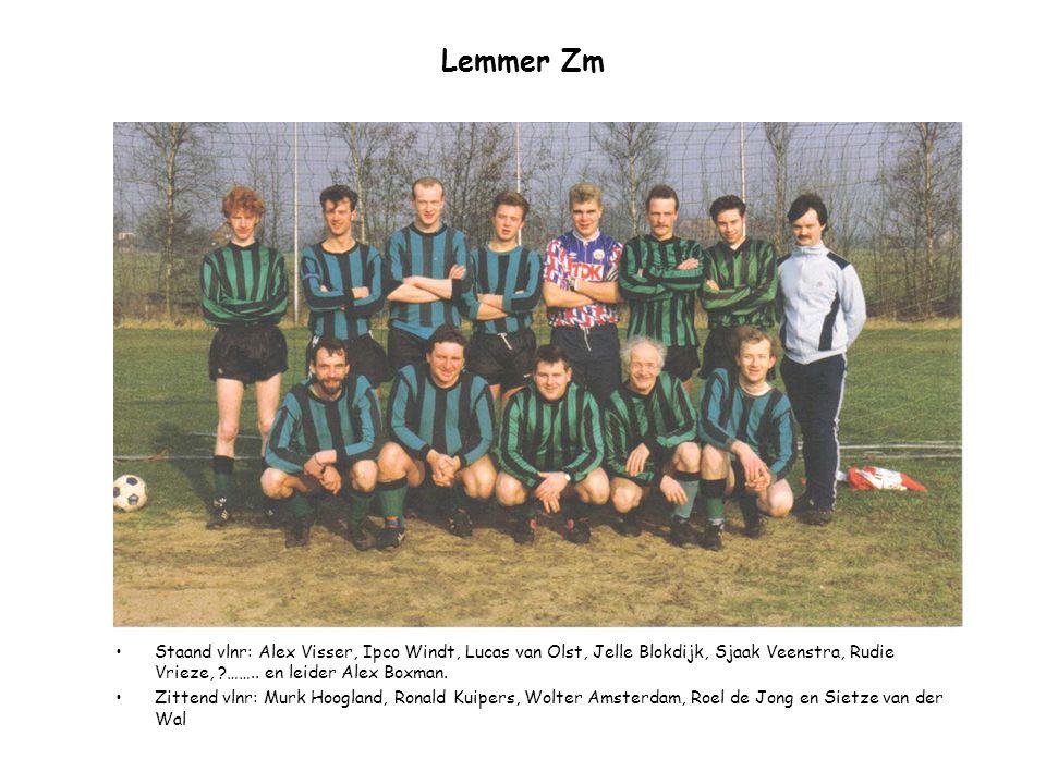 Lemmer Zm Staand vlnr: Alex Visser, Ipco Windt, Lucas van Olst, Jelle Blokdijk, Sjaak Veenstra, Rudie Vrieze, …….. en leider Alex Boxman.