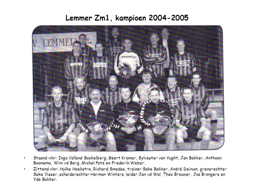 Lemmer Zm1, kampioen 2004-2005