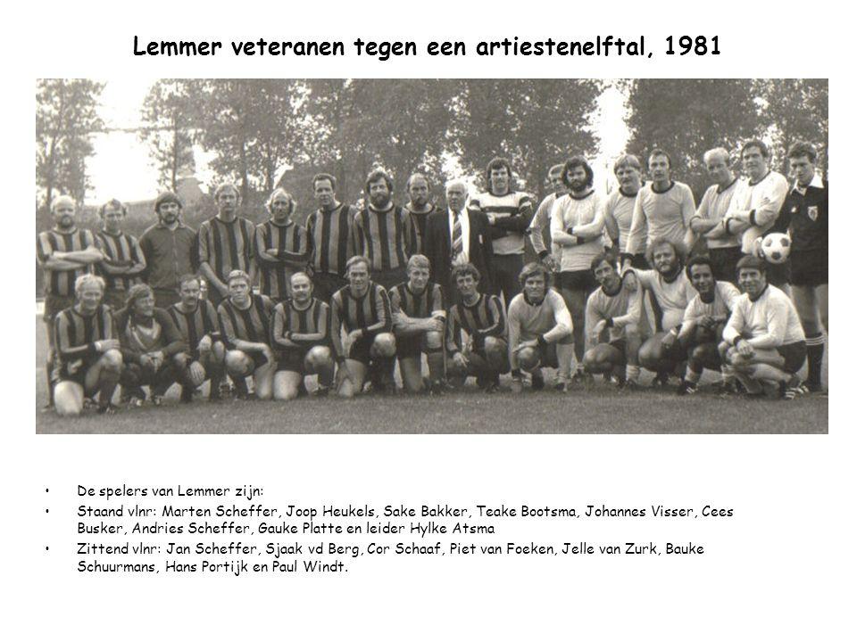 Lemmer veteranen tegen een artiestenelftal, 1981