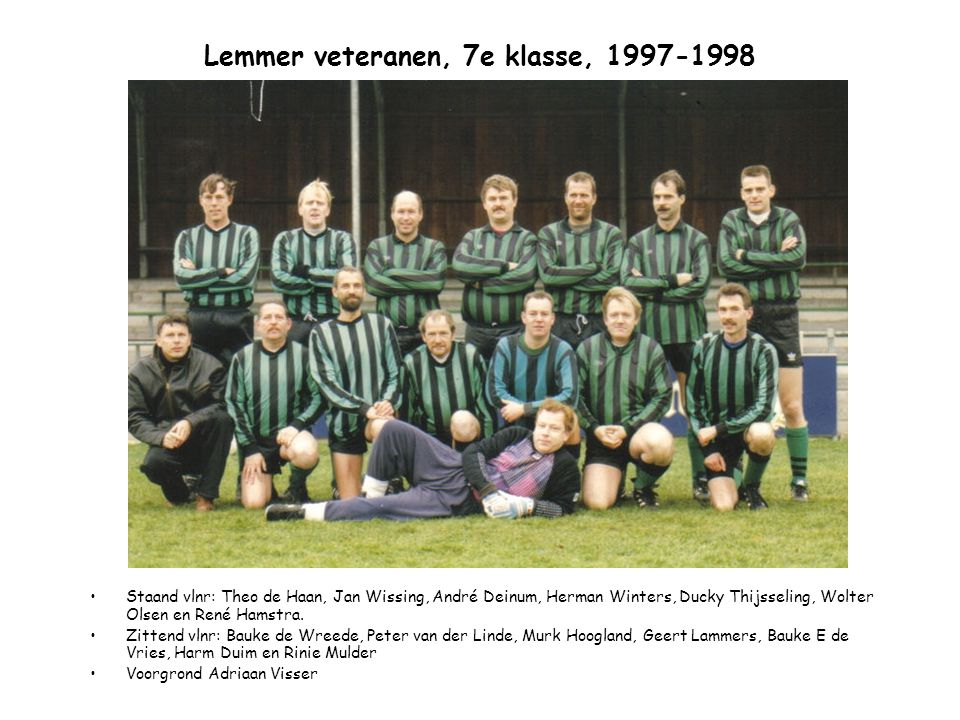 Lemmer veteranen, 7e klasse, 1997-1998