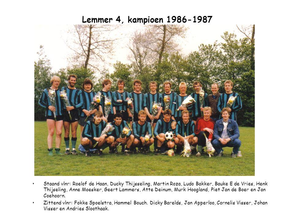 Lemmer 4, kampioen 1986-1987