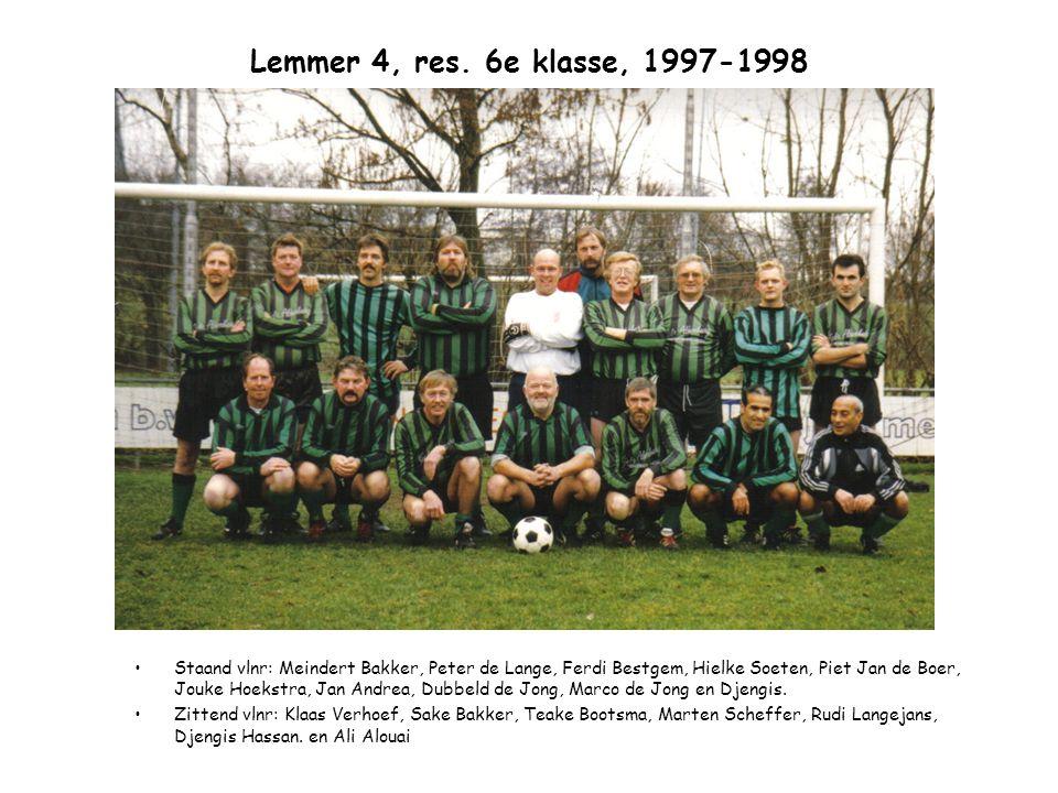 Lemmer 4, res. 6e klasse, 1997-1998