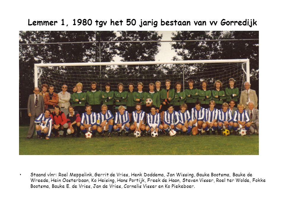 Lemmer 1, 1980 tgv het 50 jarig bestaan van vv Gorredijk