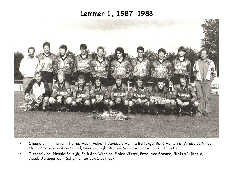 Lemmer 1, 1987-1988