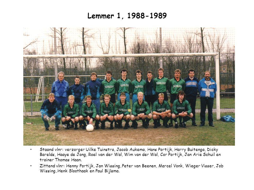 Lemmer 1, 1988-1989