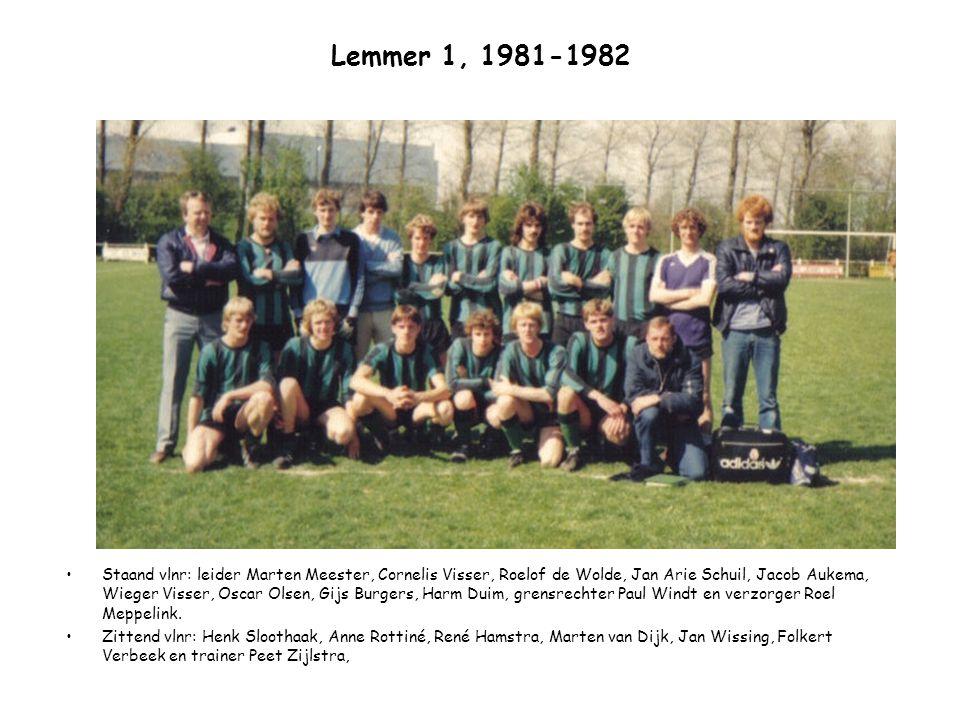 Lemmer 1, 1981-1982