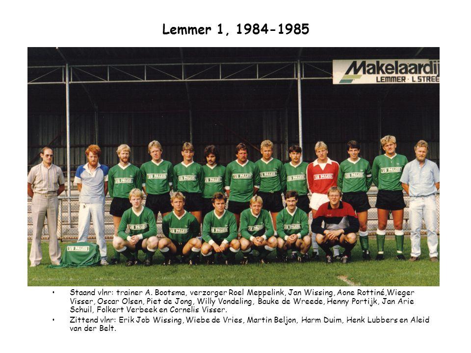 Lemmer 1, 1984-1985