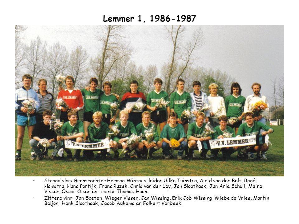 Lemmer 1, 1986-1987